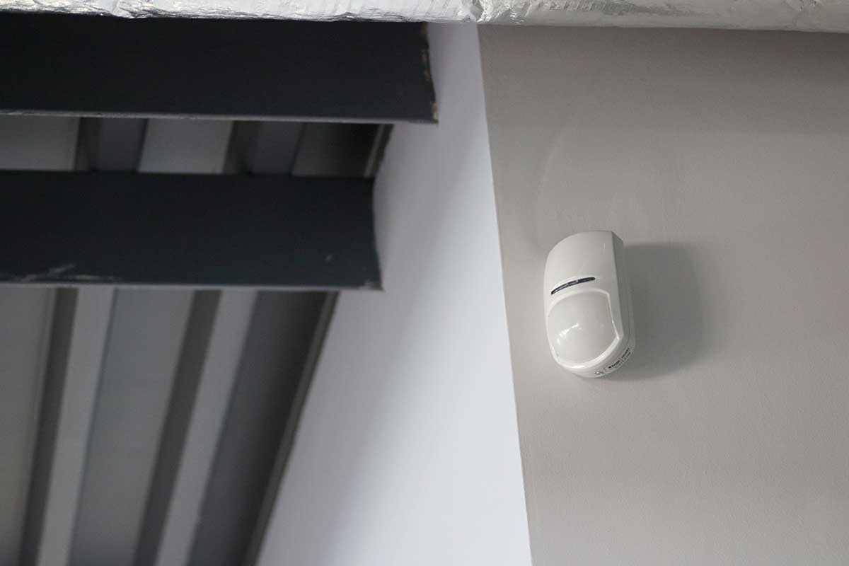 Intruder sensor installed by B9 Fire and Security
