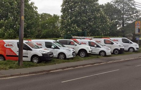The B9 Fire and Security fleet of vans